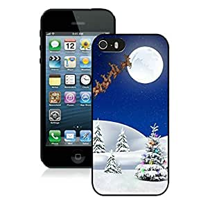 Custom Iphone 5S Protective Cover Case Christmas Tree iPhone 5 5S TPU Case 20 Black