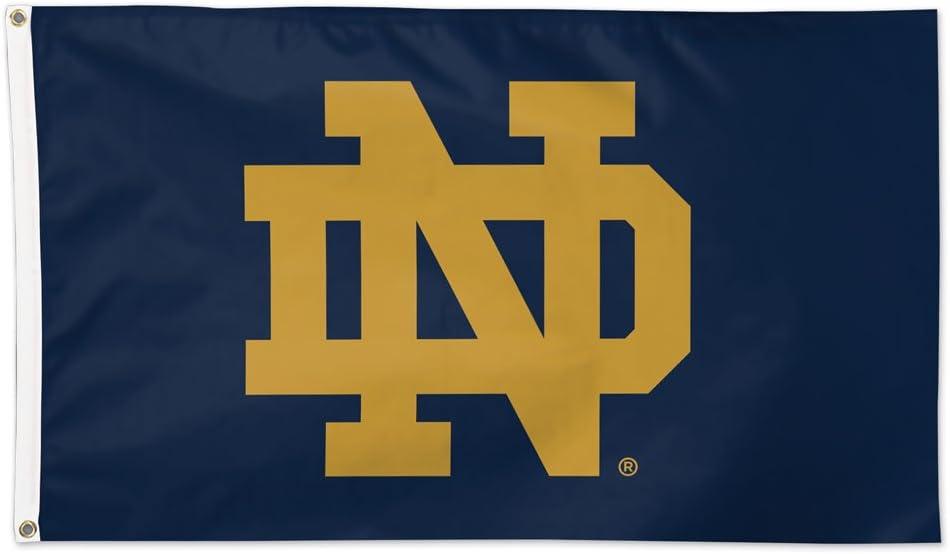 NCAA Notre Dame Fighting Irish Cheer ND Flag Deluxe, 3 x 5-Foot