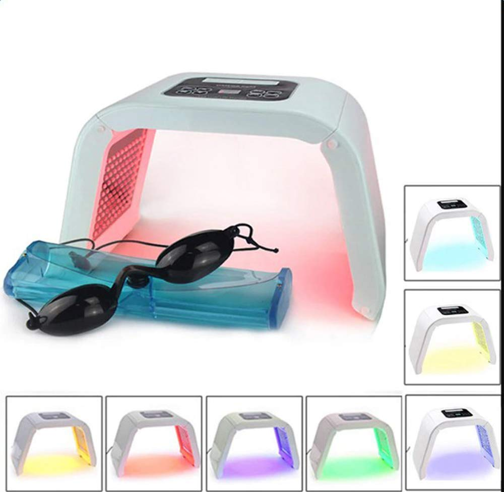 Funwill 7 Colors Skin Care Machine LED Photon Light Therapy PDT Lamp Beauty Machine Treatment Skin Regeneration Tighten Facial Acne Remover Anti-wrinkle Spa