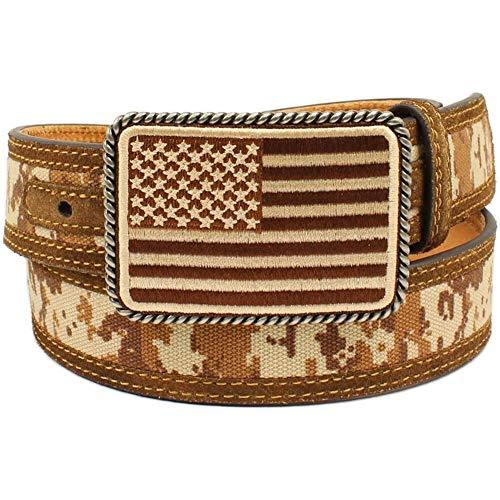 Ariat Unisex-Adult's Patriot Digital Camo Belt, Brown, 36 Ariat Mens Work Belt