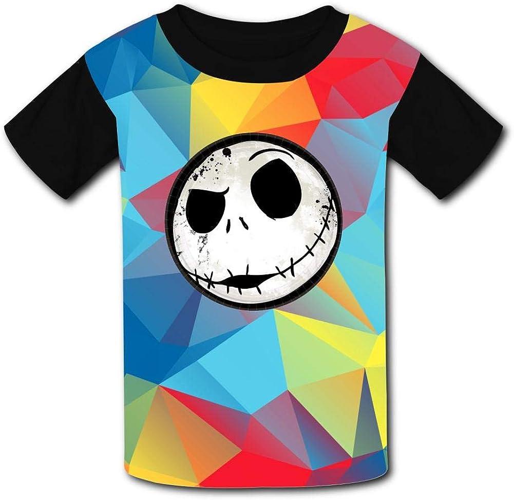 Halloween Christmas Night-Mar-e Jac-k Head Kids T-Shirts Short Sleeve Tees Summer Tops for Youth//Boys//Girls