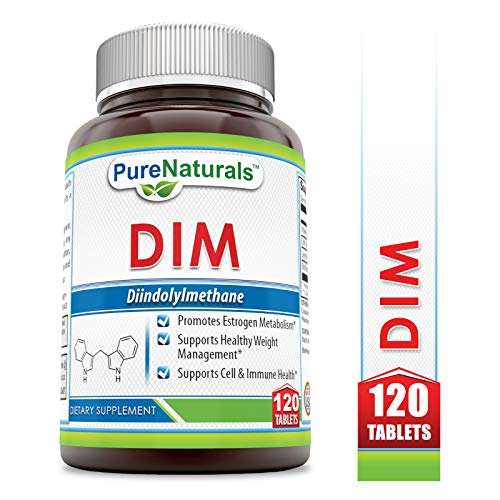 Pure Naturals DIM 120 Tablets- Promotes Estrogen Metabolism* Supports Healthy Weight Management* Supports Cell & Immune Health* (Diindolylmethane 100 Mg 120 Tabs)