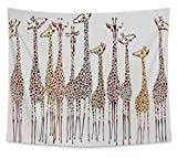 Gear New Wall Tapestry For Bedroom Hanging Art Decor College Dorm Bohemian, Giraffes, Small, 60 inches wide by 51 inches tall