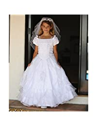 Angels Garment White Our Lady of Guadalupe Communion Dress Girls 10