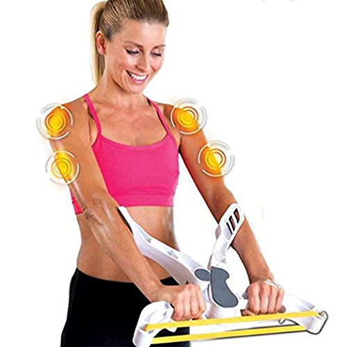 Kikyou Arm Workout Machine,Upper Exerciser Force Fitness Equipment System with 3 Resistance Bands,Neat and Portable Arms Workout Machine by Kikyou