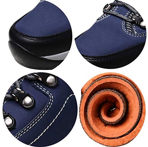 Cuero De Botas Zapatos Zapatos Y Senderismo Blue1 Altas Impermeables botas Para Rsheng Hombres Exteriores Terciopelo nHpwU0qn