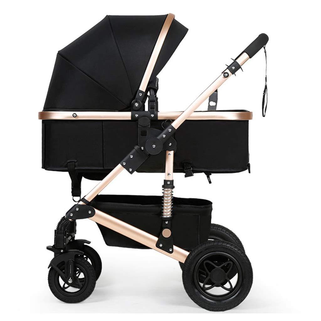 Silla de paseo infantil para niños de 0-3 años Cochecito de bebé de dos vías plegable   Sistema de seguridad de 5 puntos   Caucho a prueba de golpes 4 ruedas   Asiento ajustable