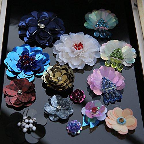 1 1 Chandail Type Patches D 3D De Pinkdose Big atements Fleurs V Sequin De Patch Cor PCS Flower Accessoires Tissu Perl Bricolage d6RqwR1
