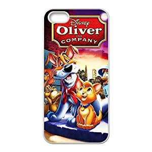 Custom for iPhone 5 5s Cell Phone Case White Oliver and Company Theme DG6296