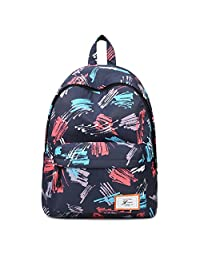 """Artone Mark Painting Water Resistant Big Capacity Backpack Padded School Daypack With Laptop Compartment Fit 15"""" Notebook Deep Blue"""