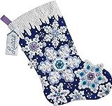 Bucilla 86709 Sparkle Snowflake Stocking Kit