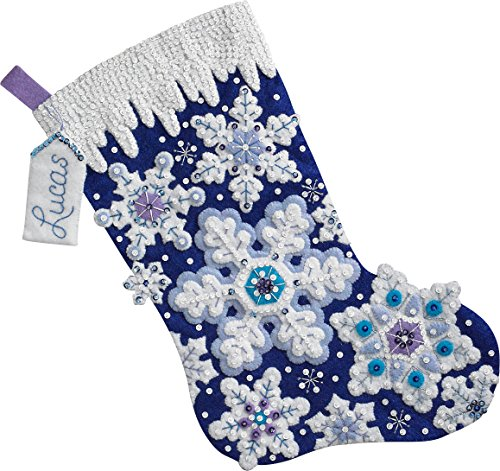 Bucilla 86709 Sparkle Snowflake Stocking Kit from Bucilla