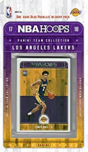 Los Angeles Lakers 2017 2018 Hoops Basketball Factory Sealed 11 Card NBA Licensed Team Set with Kyle Kuzma and Lonzo Ball Rookie Cards Plus