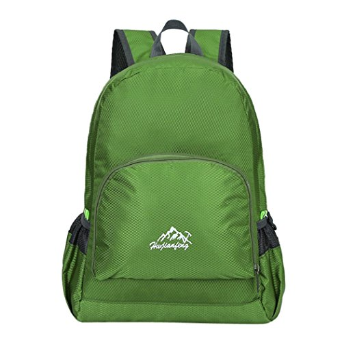 Fashion Softback Backpack Shoulder Bags Water Repellent Nylon Trvel School Rucksack by IKevan (Army Green)