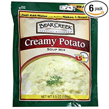 Bear Creek Country Kitchens Creamy Potato Soup Mix 5 Ounce Bags Pack Of