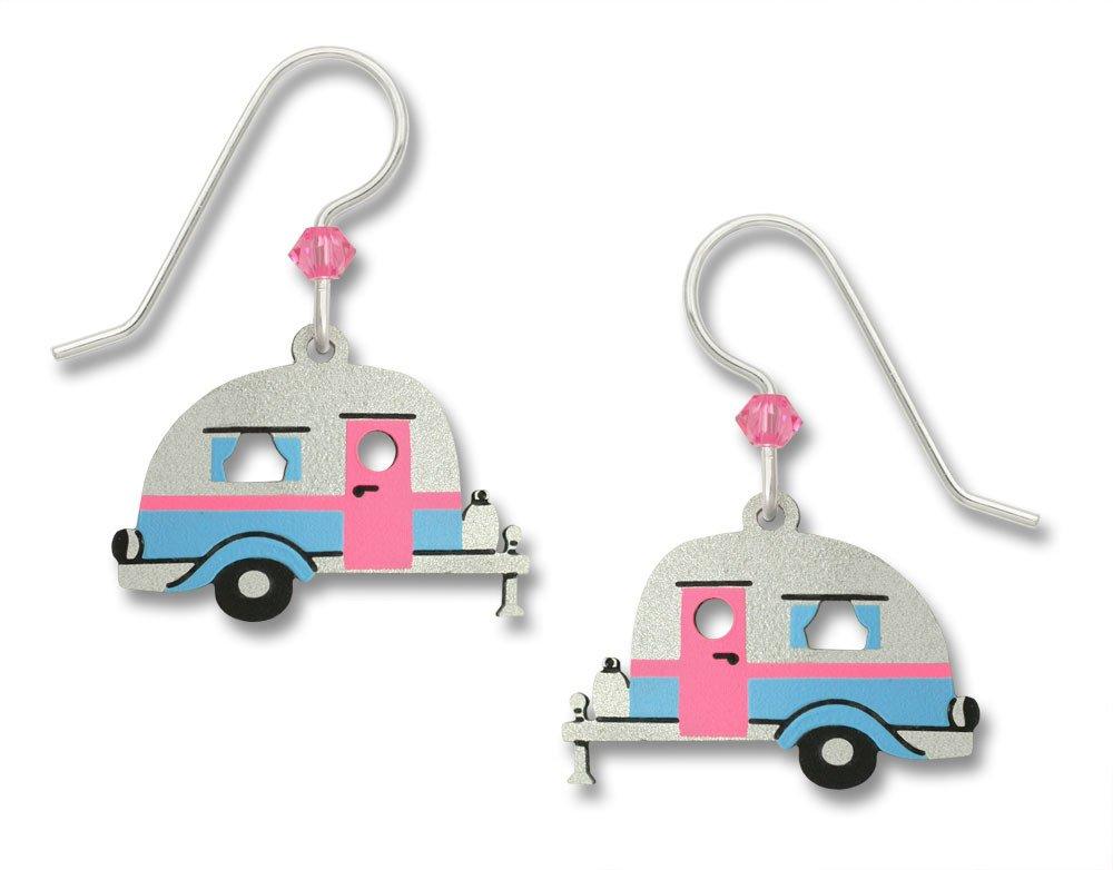 Sienna Sky Metal Travel Trailer Camper Earrings w/ Sterling Silver Ear Wires