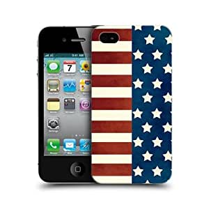 Half Stars And Stripes Americana Back Case Cover For Apple iPhone 4 4S
