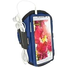 iGadgitz Water Resistant Blue Sports Jogging Gym Armband for Samsung Galaxy S4 IV I9500 I9505