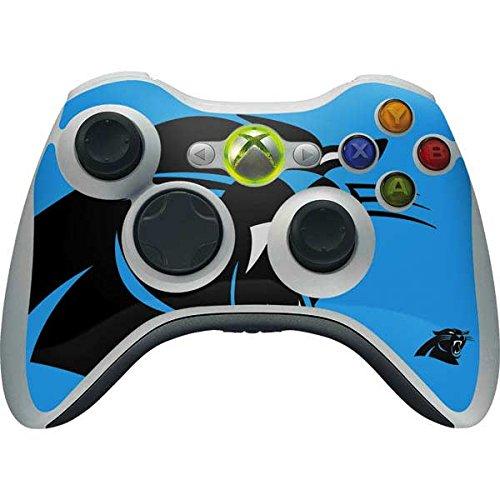 (Skinit NFL Carolina Panthers Xbox 360 Wireless Controller Skin - Carolina Panthers Large Logo Design - Ultra Thin, Lightweight Vinyl Decal Protection)