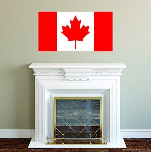 Dresser Wide Maple (Canadian Flag Wall Decal - Maple Leaf Wall Sticker)