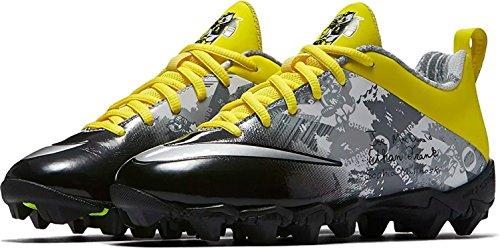 Nike Youth's Doernbecher Oregon Ducks Vapor Shark 2 BG Football Cleats Black/Yellow-Strike (US 4.5Y, Grey) (Oregon Cleats Football)