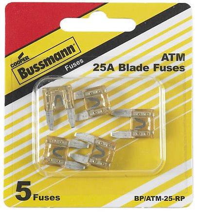 Bussman BP/ATM-25 RP 25 Amp Mini Fuses 5 ()