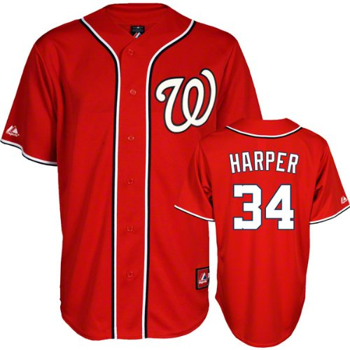 buy online a3b22 f181c Amazon.com: Bryce Harper Jersey: Washington Nationals Youth ...