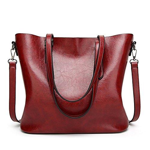 Women Printing Shoulder Bag PU Leather Purse Satchel Messenger Bag - 8