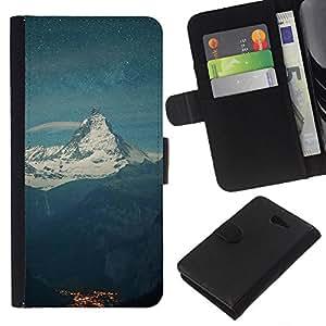 JackGot ( el Monte Everest ) Sony Xperia M2 la tarjeta de Crédito Slots PU Funda de cuero Monedero caso cubierta de piel