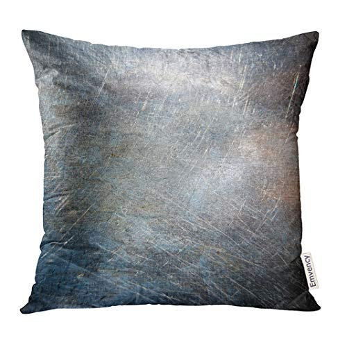 Emvency Throw Pillow Cover Blue Rust Scratched Metal Grunge Silver Rusty Decorative Pillow Case Home Decor Square 20x20 Inches Pillowcase