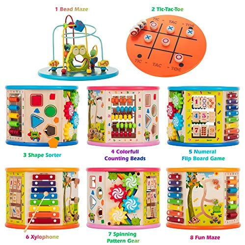 Activity Cube Wooden Center 8-in-1 Educational Toys Best ...