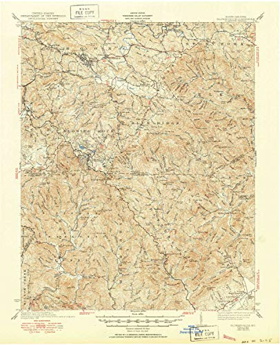 YellowMaps Blowing Rock NC topo map, 1:62500 Scale, 15 X 15 Minute, Historical, 1942, Updated 1950, 21 x 17 in - Polypropylene (Map Of Boone And Blowing Rock Nc)