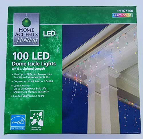100 Led Dome Icicle Lights in US - 3
