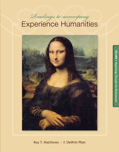 Readings to Accompany Experience Humanities Volume 1: Beginnings through the Renaissance by Brand: McGraw-Hill Humanities/Social Sciences/Languages