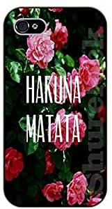 iPhone 5 / 5s Floral Hakuna Matata - black plastic case / Walt Disney And Life Quotes, king, lion