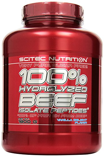 Scitec Nutrition Beef Isolat Peptides Vanille Delight, 1er Pack (1 x 1.8 kg)