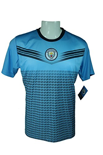 Manchester City F.C. Soccer Official Adult Soccer Training Performance Poly Jersey Rhinox-J014 -