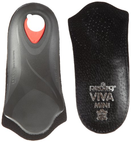 Pedag Viva Mini Orthotic with Semi-Rigid Arch Support, Metatarsal & Heel Pad, Leather, Black, US M11/EU44