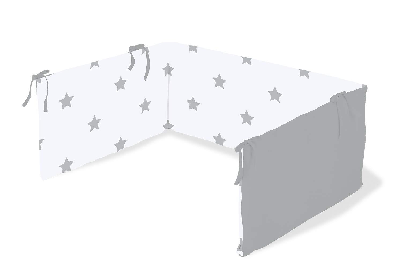 grau Pinolino 650022-8 Nestchen f/ür Kinderbetten Sternchen