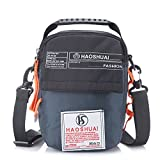 JAKAGO Waterproof Shoulder Bag Universal Small Messenger Bag Handbag Mobile Phone Pouch Cross Body Bag Belt Purse with Shoulder Strap for Outdoor Sport Travel Hiking Camping (dark blue)