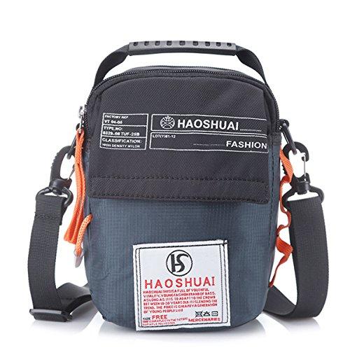 JAKAGO Waterproof Shoulder Bag Universal Small Messenger Bag Handbag Mobile Phone Pouch Cross Body Bag Purse Shoulder Strap Outdoor Sport Travel Hiking Camping (Dark - Pouch Shoulder Bag Messenger Sling