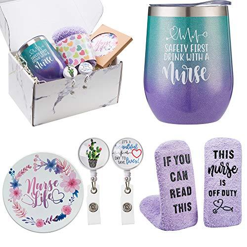 Nurse Gift Box for Women – Nurse Appreciation Gift Set, Nurse Graduation, Nursing School, Nurse Christmas Gifts – Nurse…