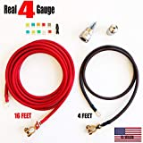 Battery Relocation Kit, Real # 4 AWG Cable, Top
