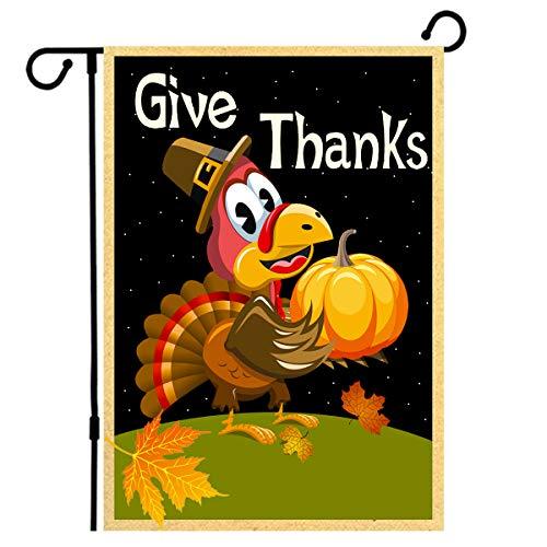 Decorate A Turkey (ZEALON Thanksgiving Flag, Autumn Turkey Thanksgiving Garden Flag, Happy Thanksgiving Garden Flag, 12.5X18 Inch, Autumn Harvest, Happy Thanksgiving Garden Flag Decorate Your)