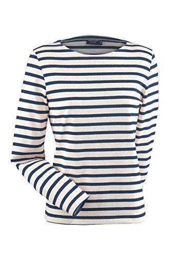 Saint James Meridame - Streifenshirt - Bretagne-Shirts Ecru/Marine
