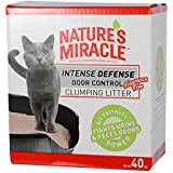 Nature's Miracle Intense Defense Odor Control Clumping Litter, 40 lb