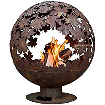 Esschert Design FF1014 Laser Cut Blowing Leafs Fire Pit Globe, Extra Large, Leafs Extra large