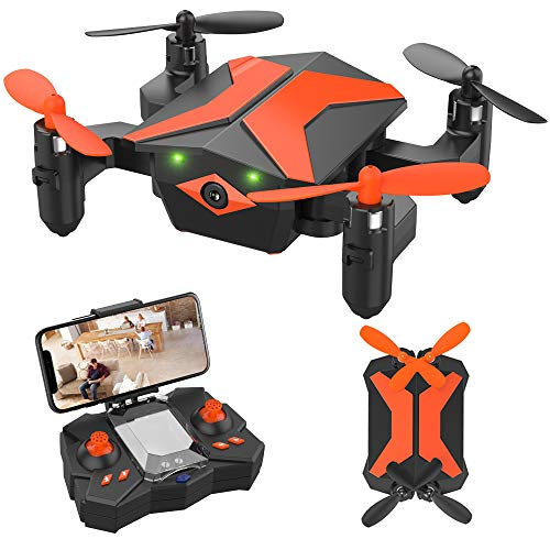 Drone for Kids Drones with Camera for Kids and Beginners, AR Game Mode RC Mini Drone w App Gravity Voice Control…
