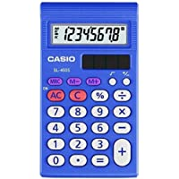 Casio SL-450S Simple Calculator, 7 Functions - 8 Character(s) - LCD - 0.7 x 4.7 x 2.9 - Blue (CasioSL-450S )