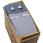 Sweet Jojo Designs Changing Pad Cover - Come Sail Away